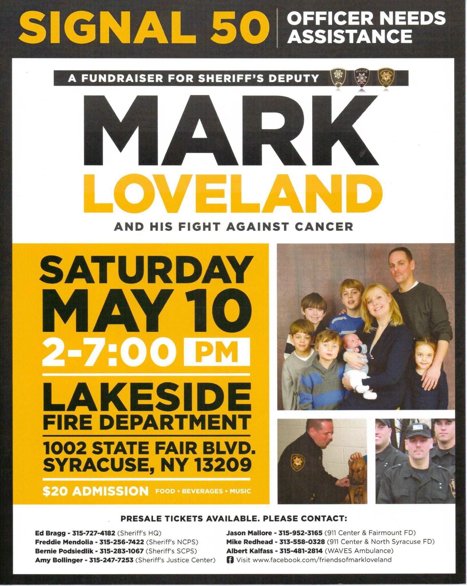 Mark Loveland Benefit Poster